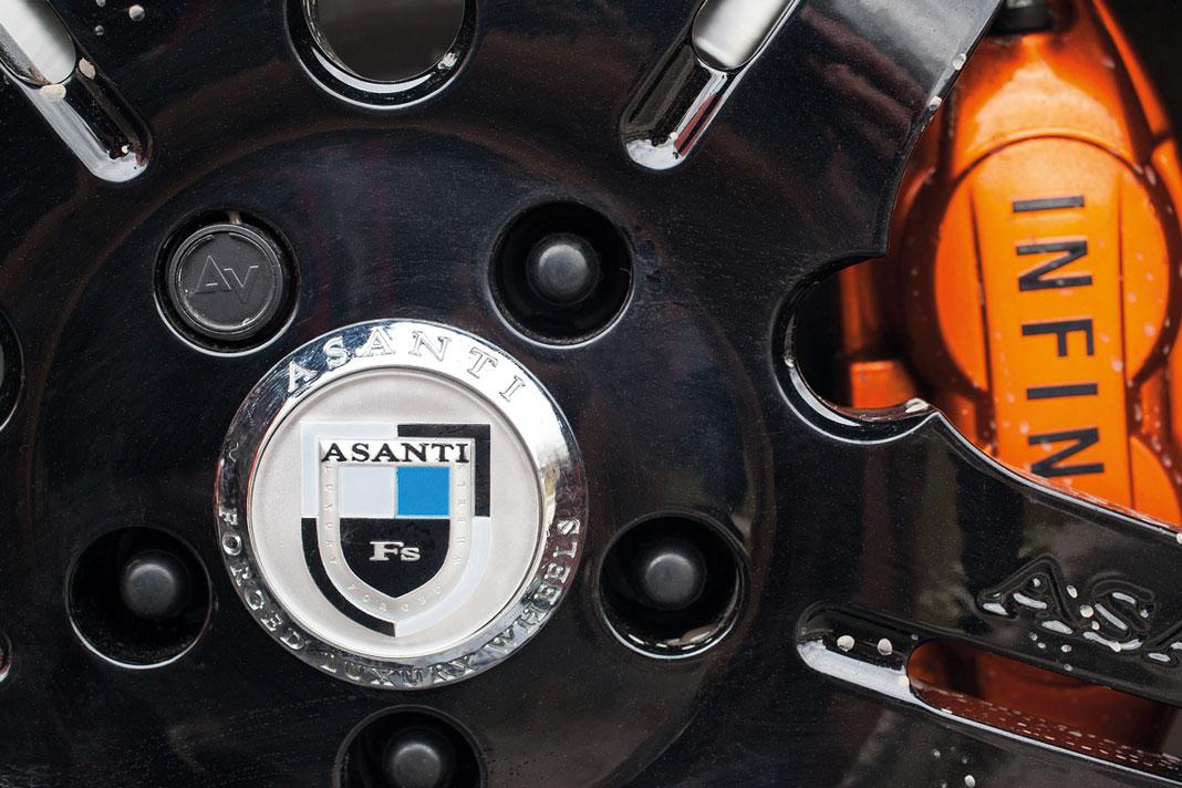Тюнинг Infiniti FX35. Жгучий апельсин, картинка, фото, изображение